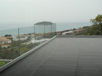 Balaustra modello Ninfa 90 in vetro stratificato e temperato extrachiaro