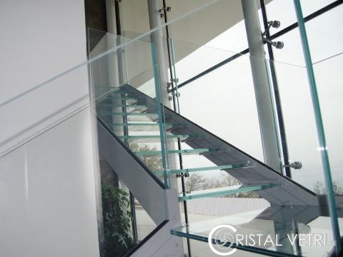 SCALA E FACCIATA SPIDER GLASS -VILLA PRIVATA-